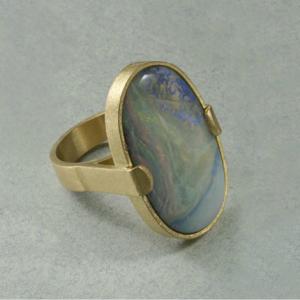 Anillo oro 750 Opalo