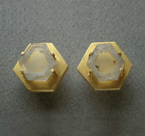 Pendientes oro aguamarinas