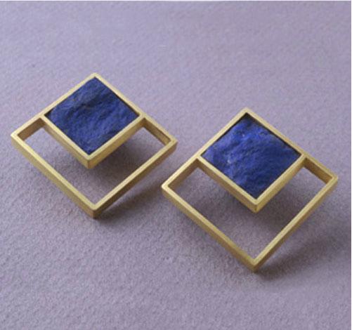 Pendientes oro lapislázuli