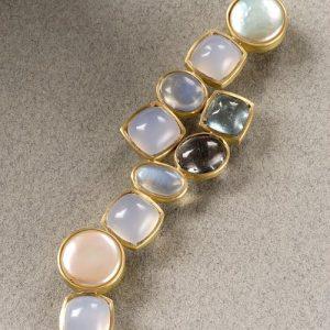Broche oro 750 perlas