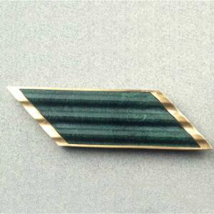 Broche oro 750 y agata