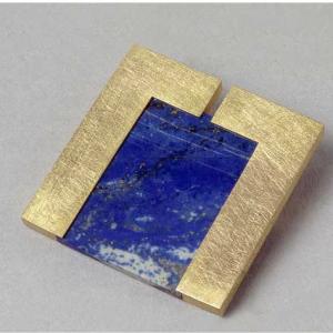 Broche oro lapislazuli